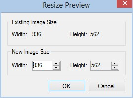 Resize Background Dialog